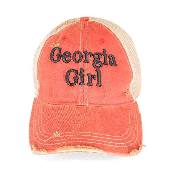 3853336c Georgia Girl Shabby Chic Trucker Hat Cap Boutique